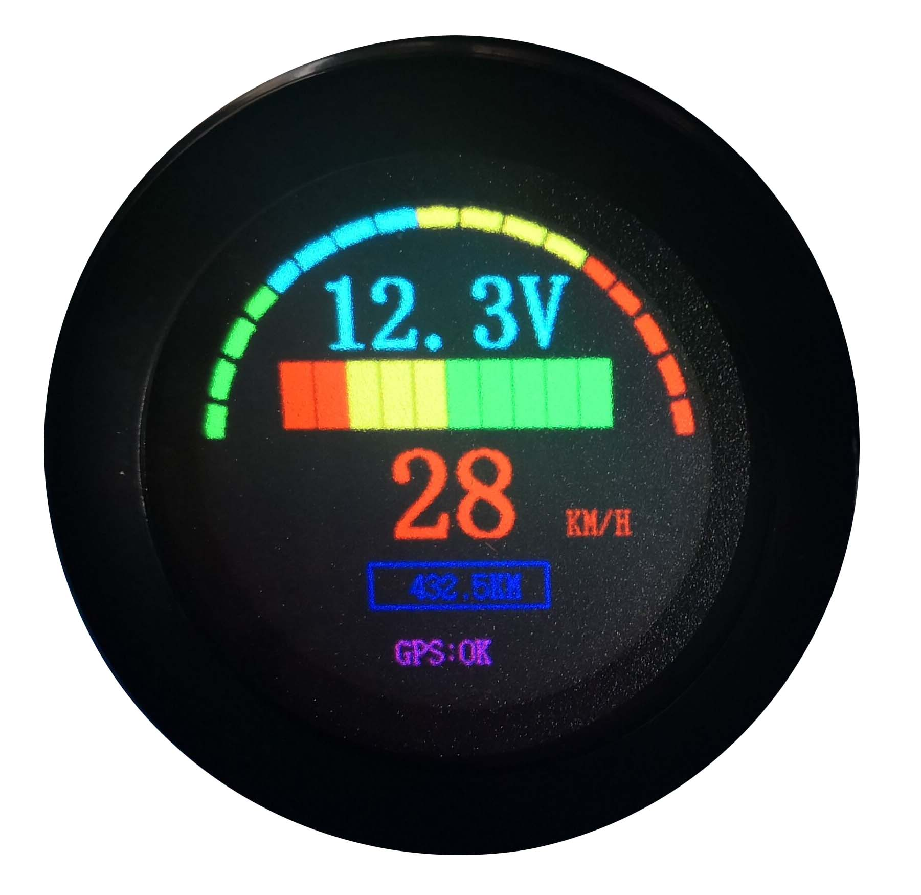 LED Digital Battery Status Charge Indicator with Hour Meter
